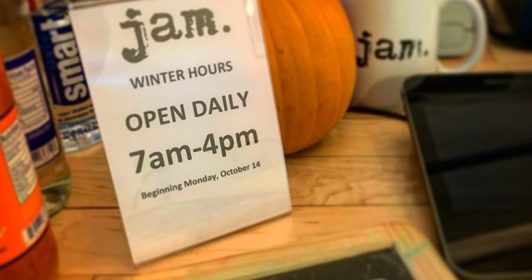 JAM Winter Hours