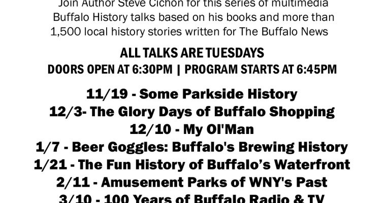 Buffalo History Jam talk series with Steve Cichon