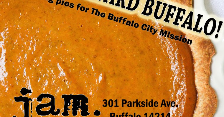 JAM will be a Pie It Forward Buffalo! drop-off site
